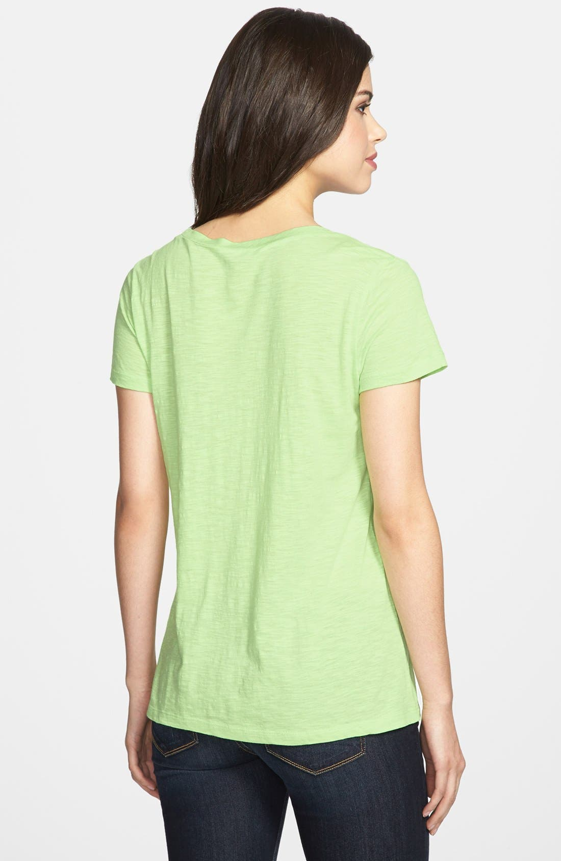 ,                             Relaxed Slub Knit U-Neck Tee,                             Alternate thumbnail 217, color,                             342