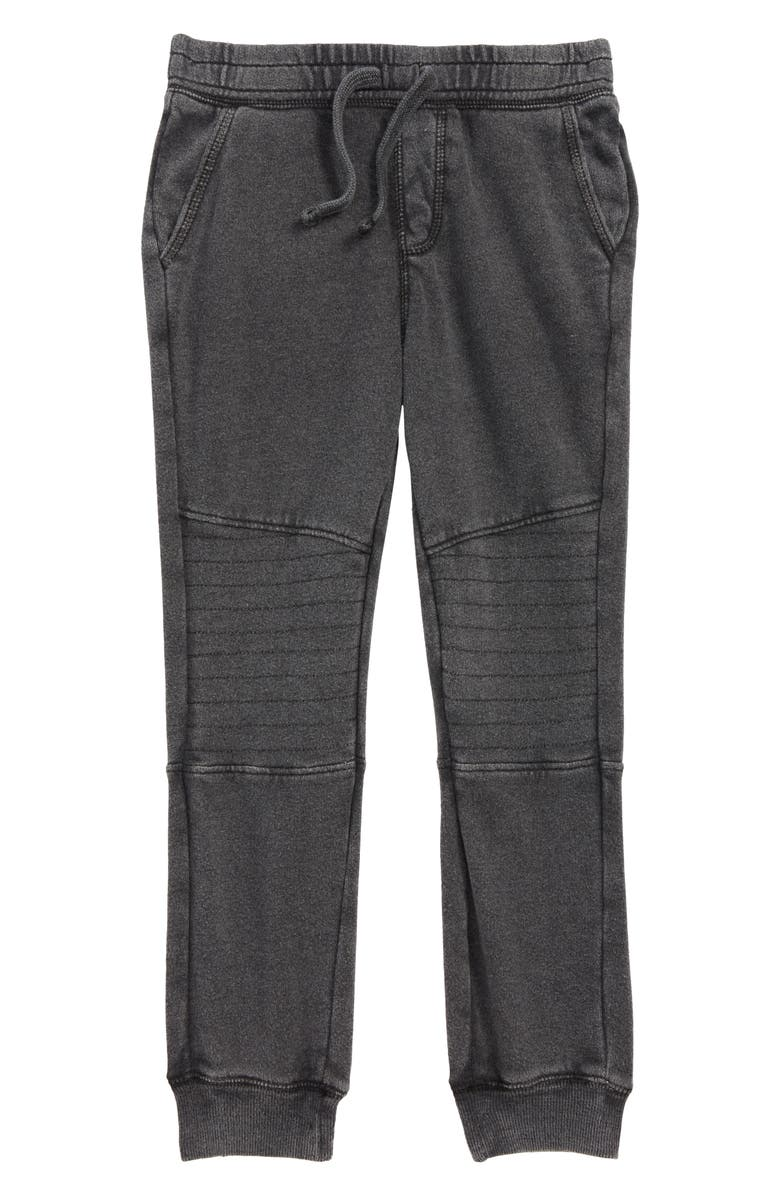 TUCKER + TATE Moto Jogger Pants, Main, color, BLACK