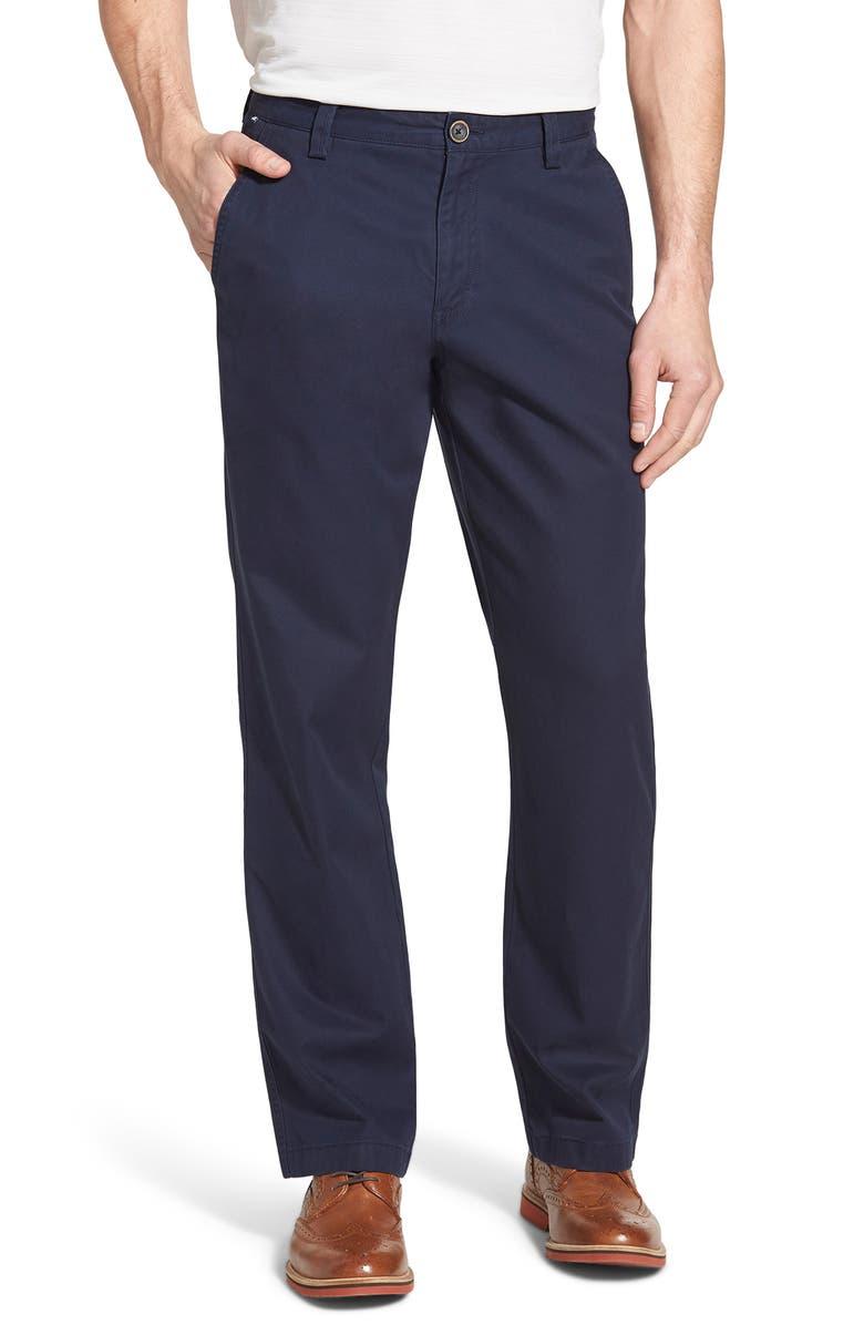 CUTTER & BUCK Beckett Straight Leg Washed Cotton Pants, Main, color, LIBERTY NAVY