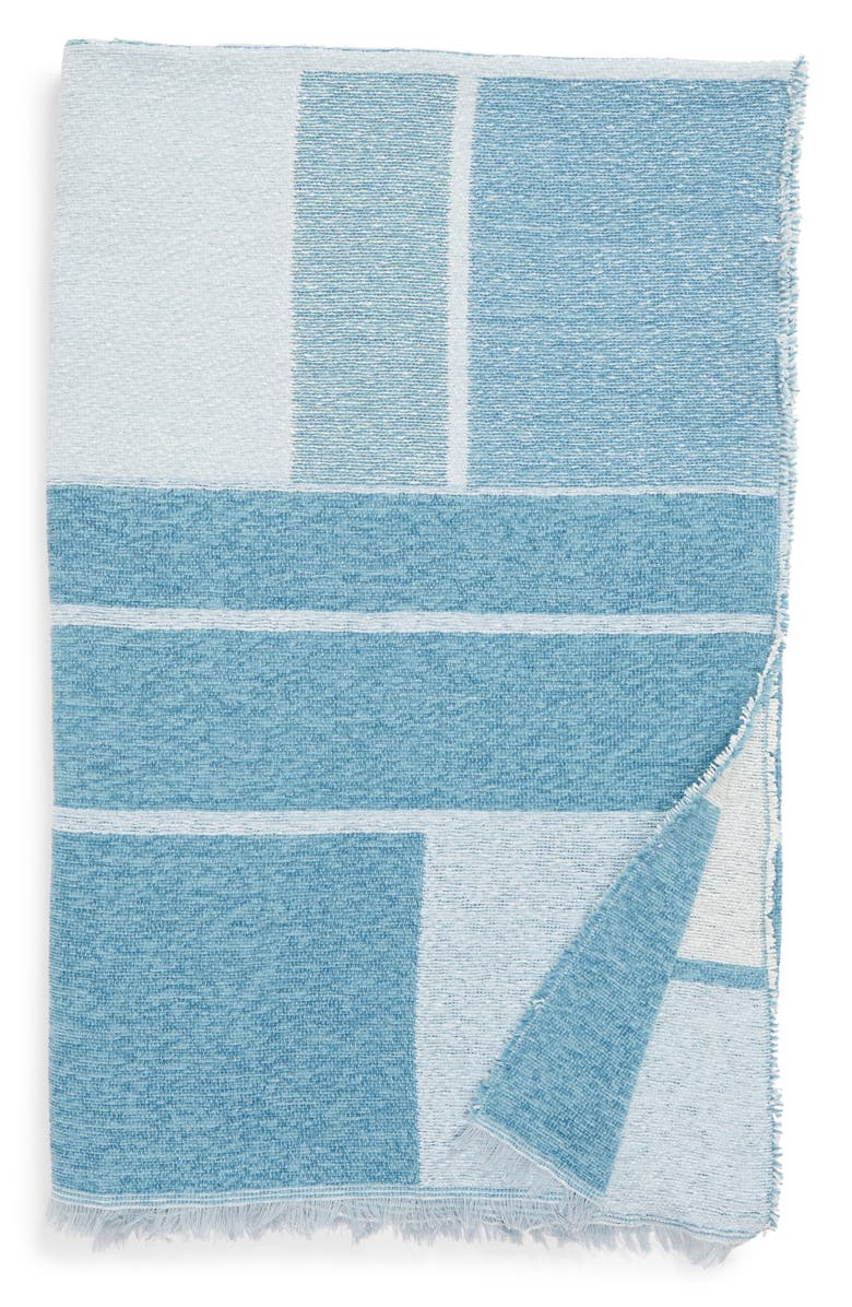 NORDSTROM AT HOME Geo Throw Blanket, Main, color, BLUE ADRIATIC MULTI