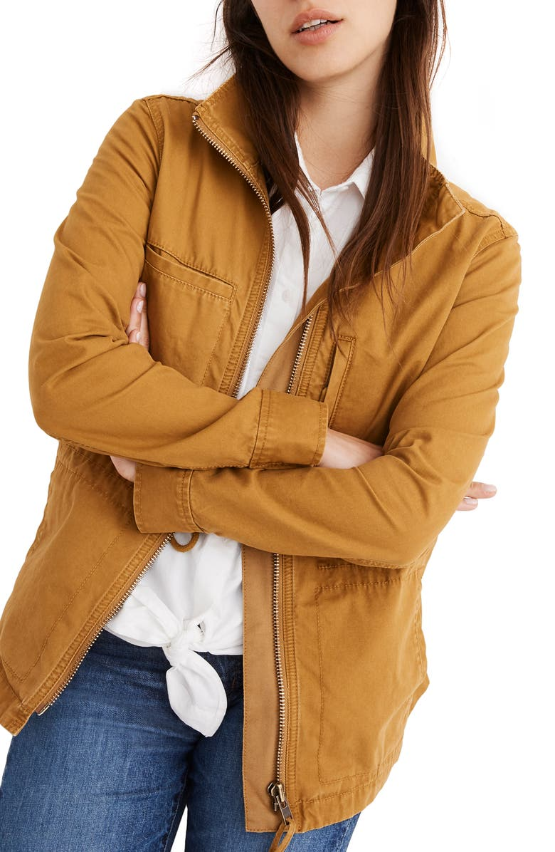 MADEWELL Fleet Jacket, Main, color, EGYPTIAN GOLD