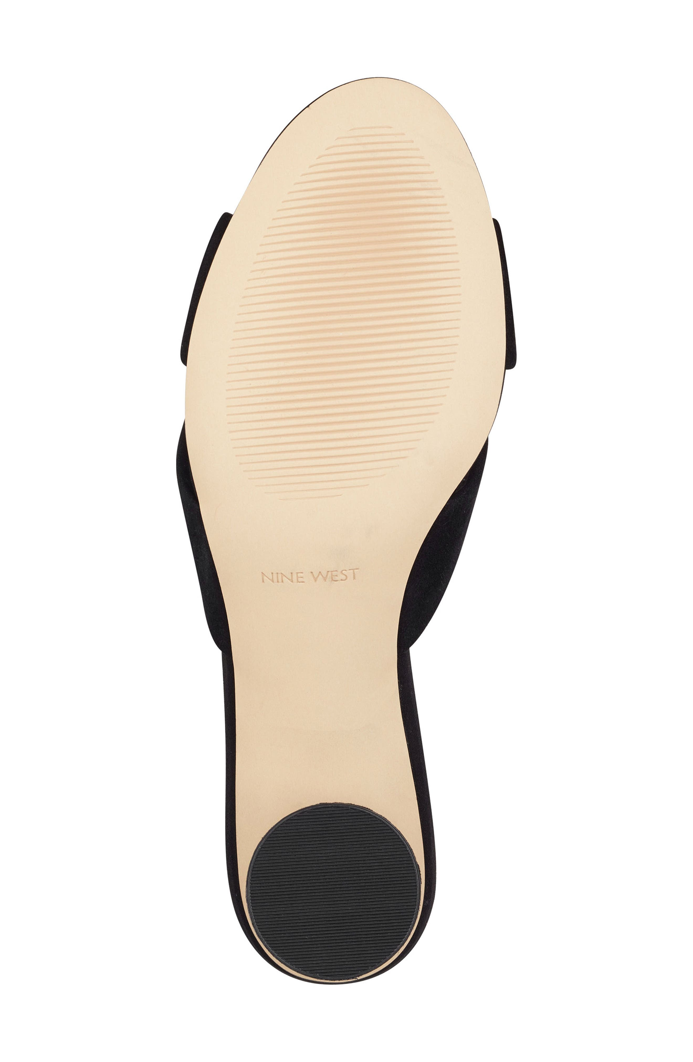,                             Kayla Knot Slip-On Sandal,                             Alternate thumbnail 5, color,                             BLACK SUEDE