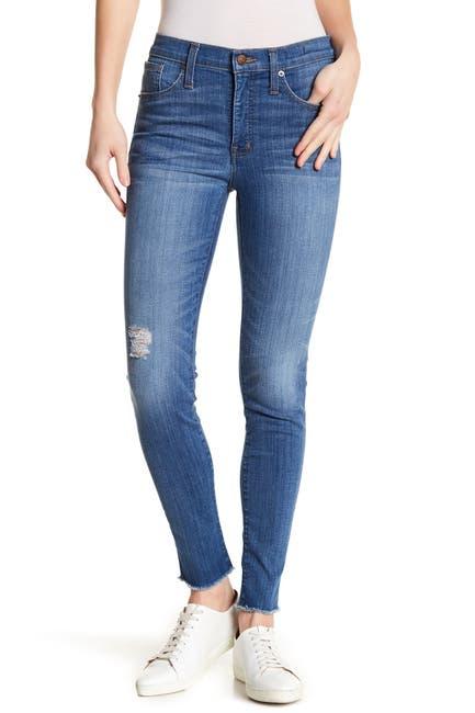 Image of Madewell Raw Hem Hi Rise Skinny Jeans