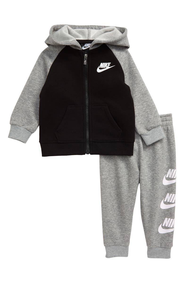 NIKE Futura Full Zip Hoodie & Jogger Pants Set, Main, color, 088