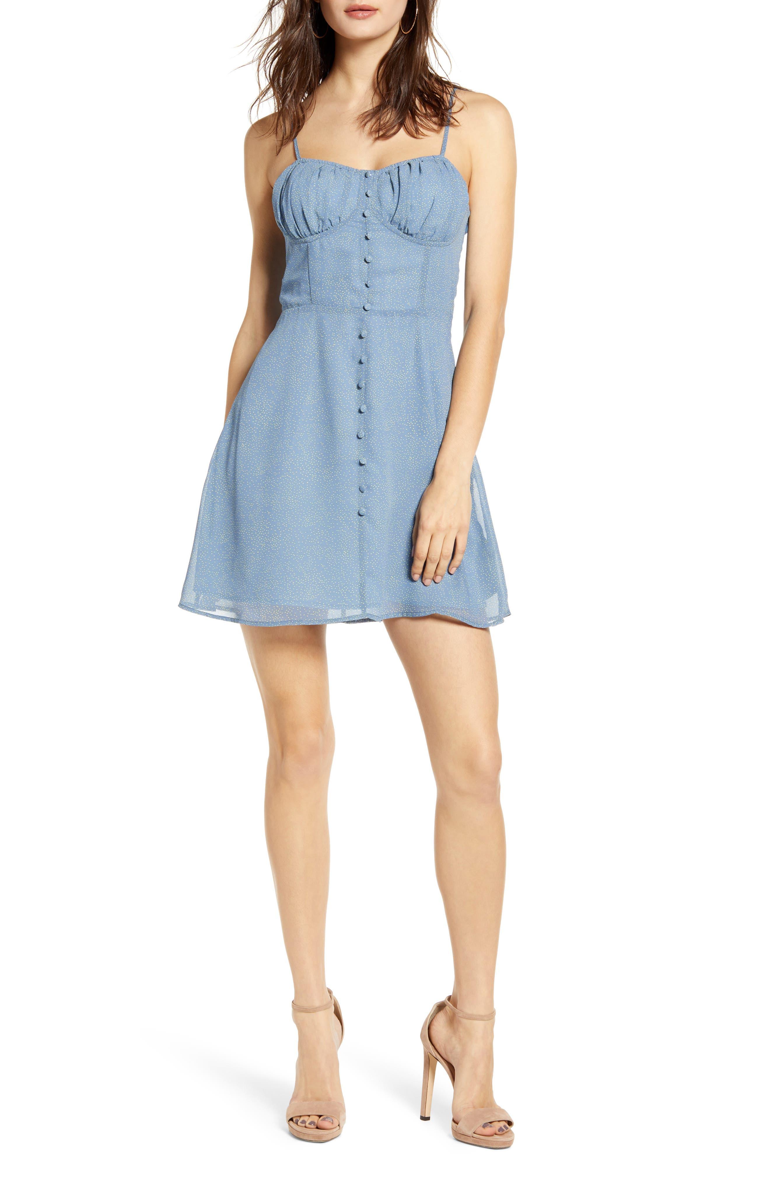 J.o.a. Sleeveless Minidress, Blue