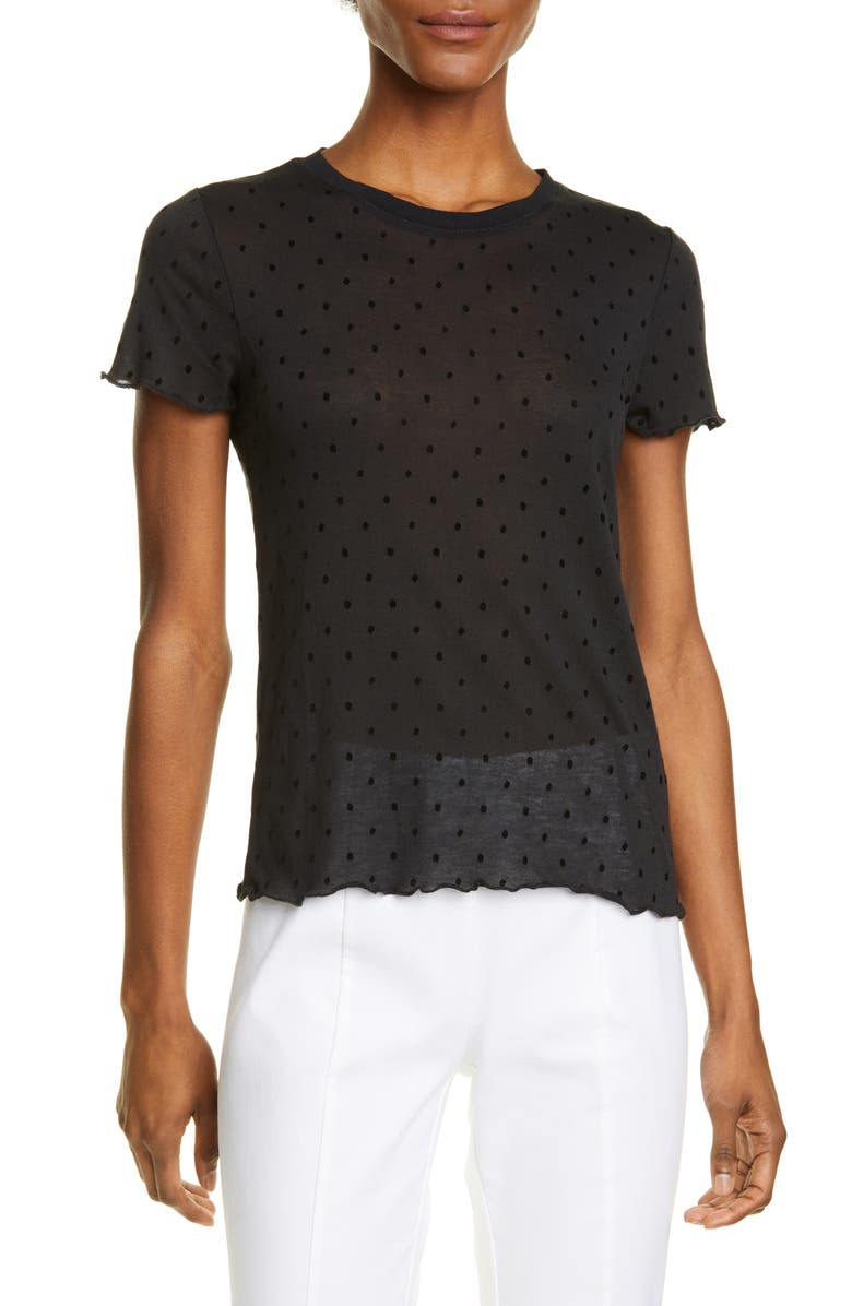 RAG & BONE Bre Swiss Dot Tee, Main, color, 001
