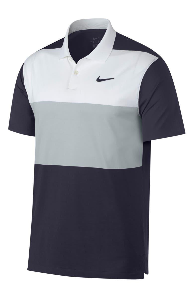 NIKE Dri-FIT Vapor Short Sleeve Golf Polo, Main, color, 100