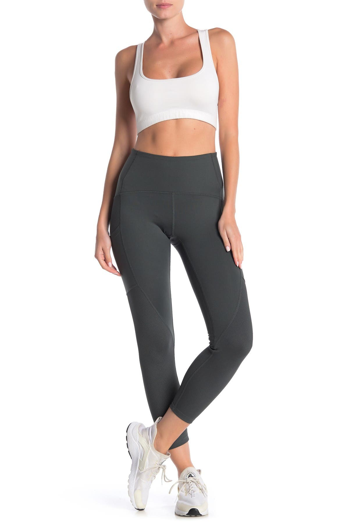 Image of Z By Zella Lena Hybrid Ribbed Panel Stretch Leggings