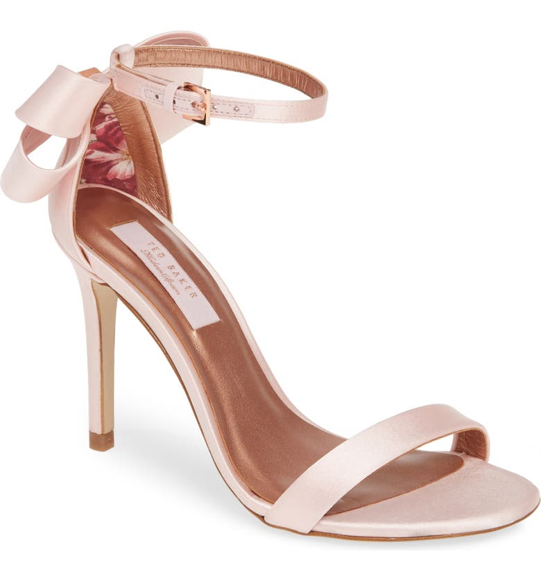 TED BAKER LONDON Sandalo Sandal, Main, color, PINK SAND SATIN