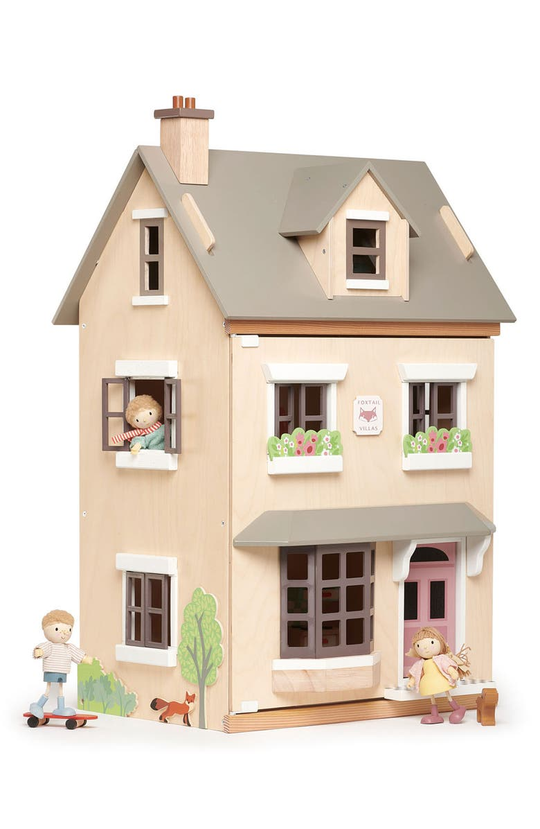 TENDER LEAF TOYS Foxtail Villa Dollhouse, Main, color, BEIGE