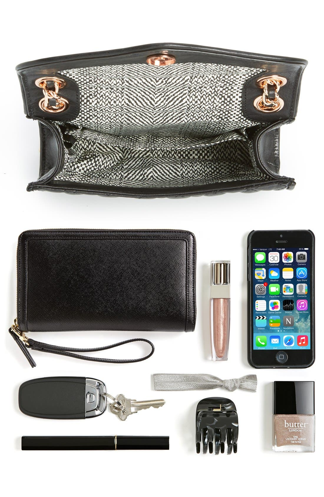 ,                             'Quilted Mini Affair' Convertible Crossbody Bag,                             Alternate thumbnail 3, color,                             001
