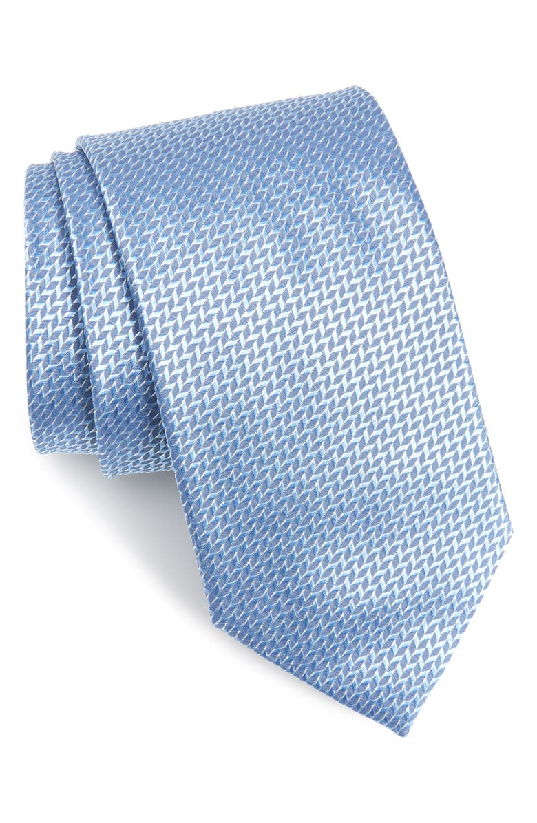 ETON Geometric Silk Tie, Main, color, 400