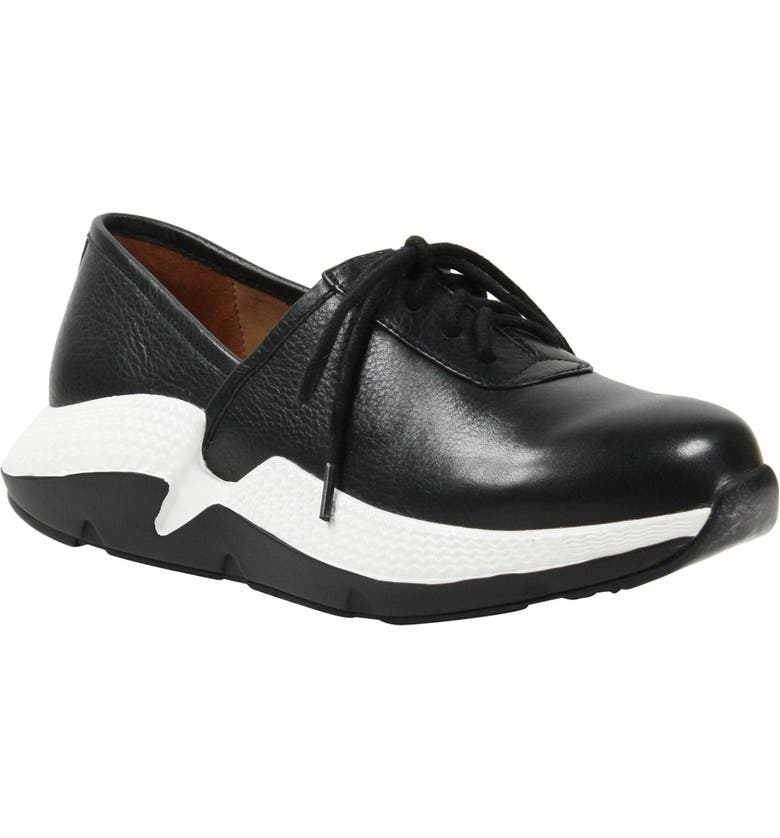 L'AMOUR DES PIEDS Helodie Sneaker, Main, color, BLACK SMOOTH LEATHER