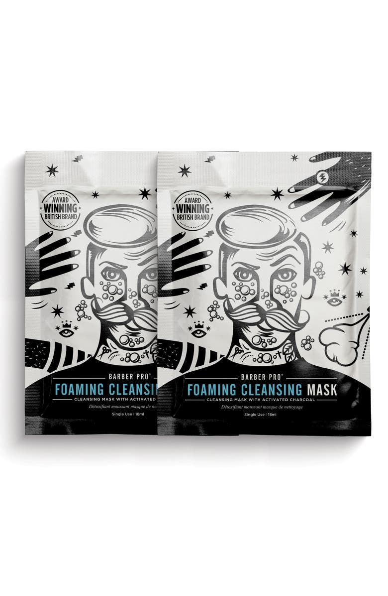 BARBER PRO Foaming Cleansing Mask Duo, Main, color, NO COLOR