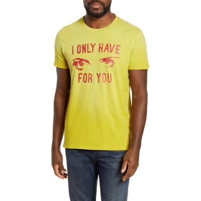 John Varvatos Star Usa Eyes For You T-Shirt, Yellow