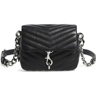 Rebecca Minkoff Edie Quilted Leather Belt Bag - Black