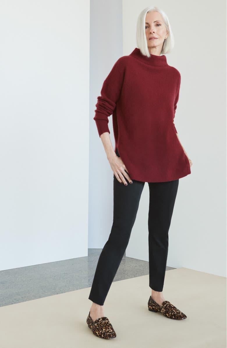 NORDSTROM SIGNATURE Funnel Neck Cashmere Sweater, Main, color, 050