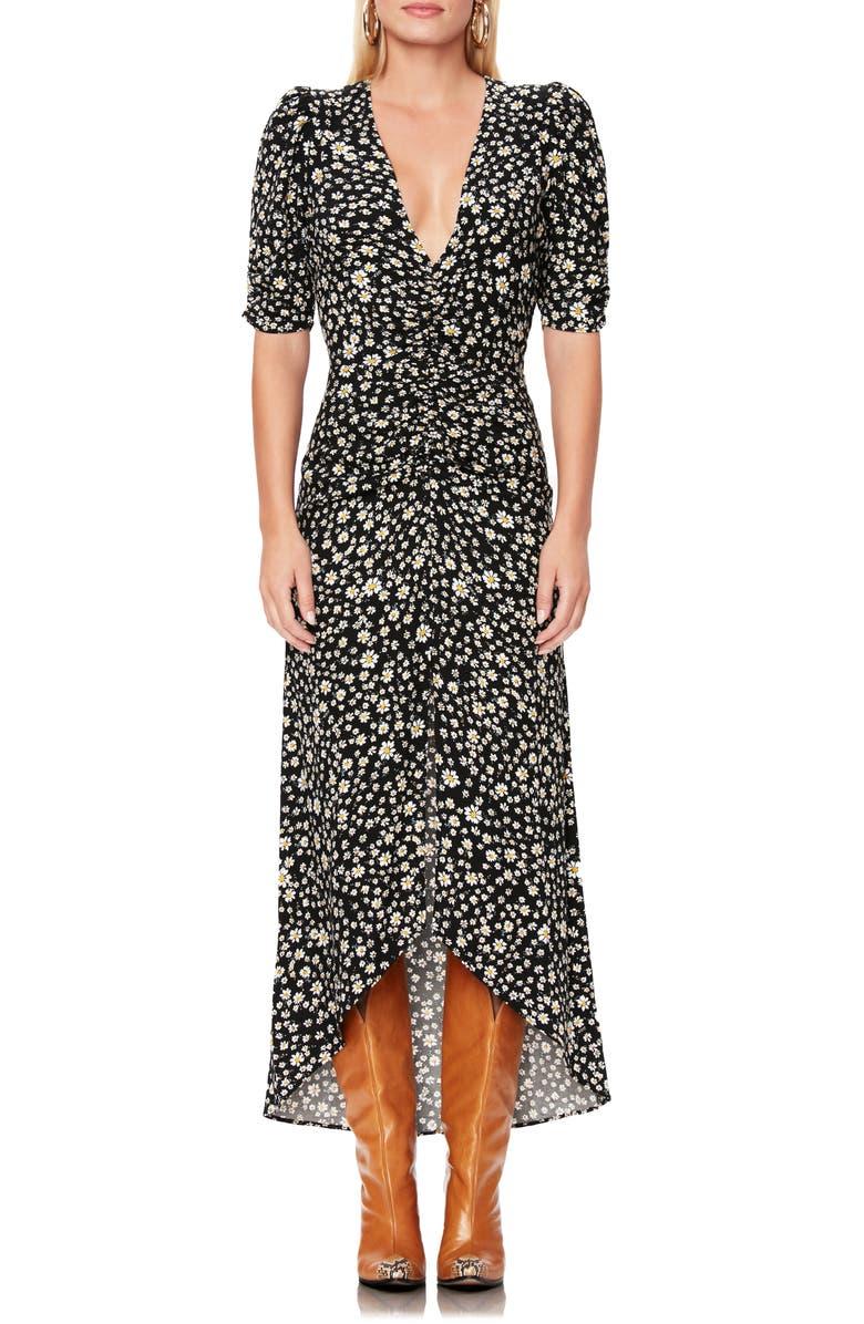 AFRM Logan Daisy Ditsy Plunge Neck Dress, Main, color, DAISY DITSY