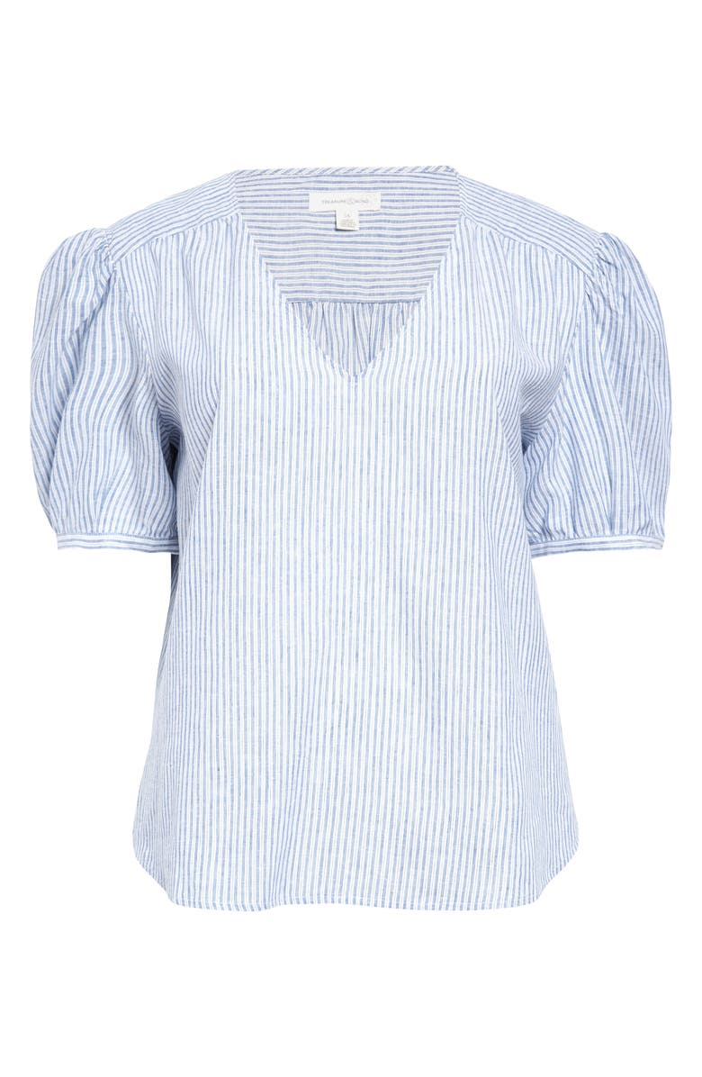 TREASURE & BOND Dobby Shirt, Main, color, BLUE- WHITE CARPENTER STRIPE