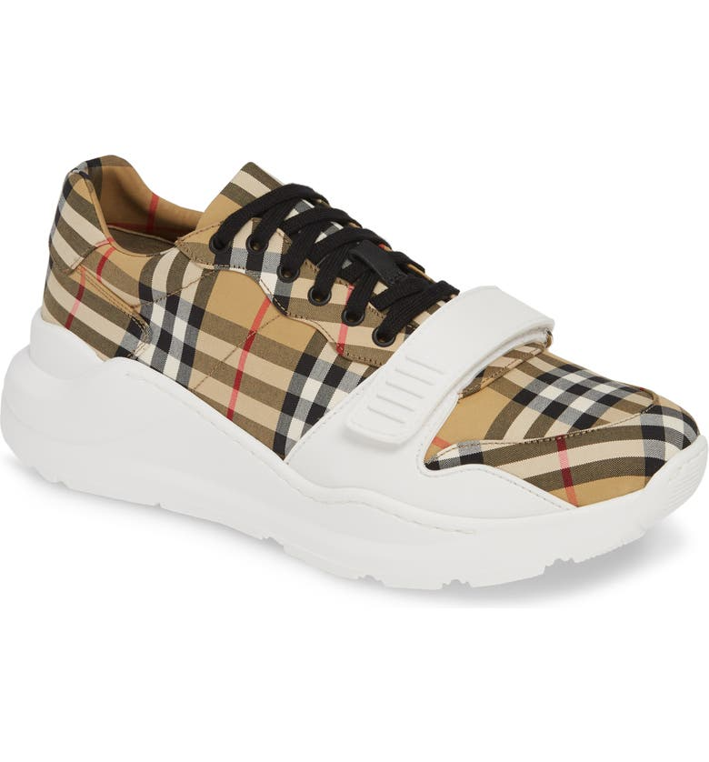 BURBERRY Regis Sneaker, Main, color, ANTIQUE YELLOW/ YELLOW