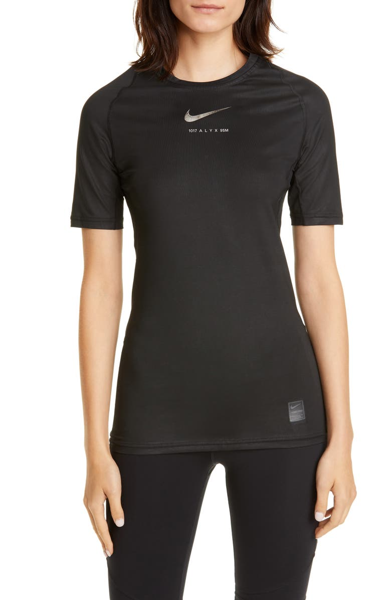 1017 ALYX 9SM x Nike Dri-FIT Short Sleeve Tee, Main, color, BLACK