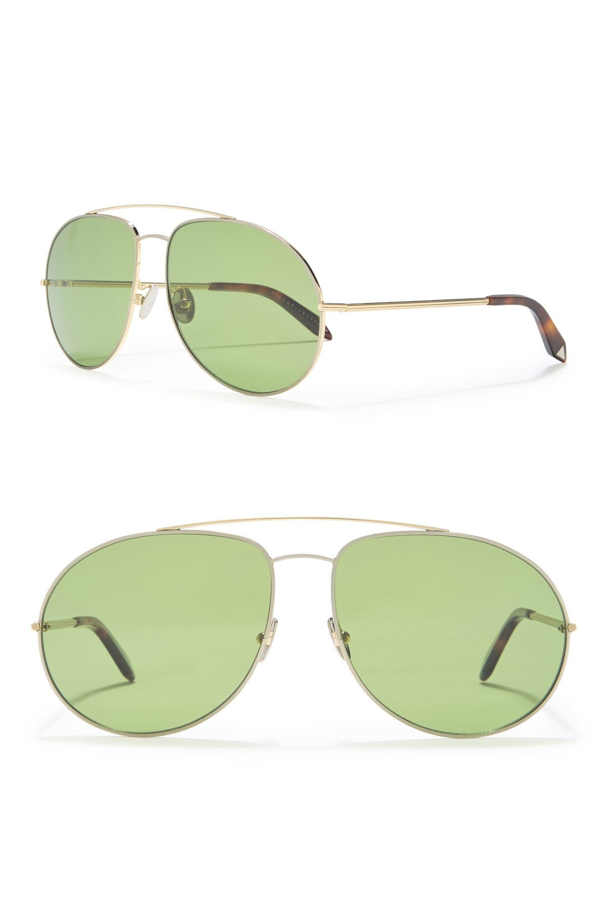 Image of Victoria Beckham 62mm Aviator Sunglasses
