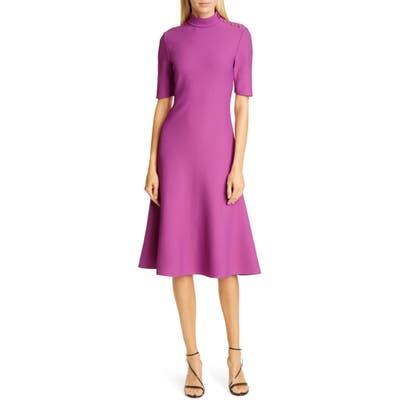 St. John Collection Sculpted Milano Knit Knee Length Dress, Pink