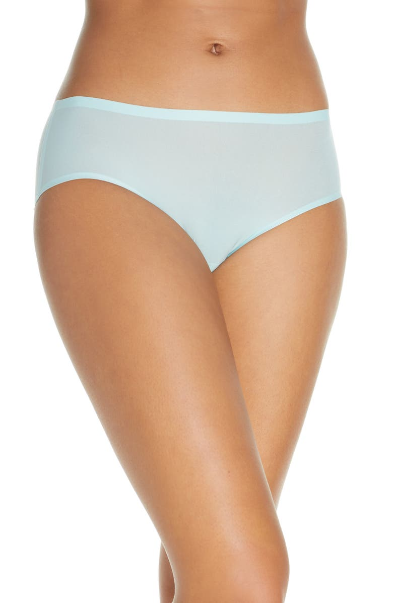 CHANTELLE LINGERIE Soft Stretch Seamless Hipster Panties, Main, color, NILE GREEN