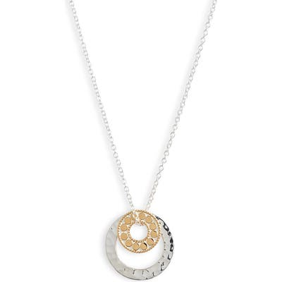 Anna Beck Hammered Double Circle Necklace