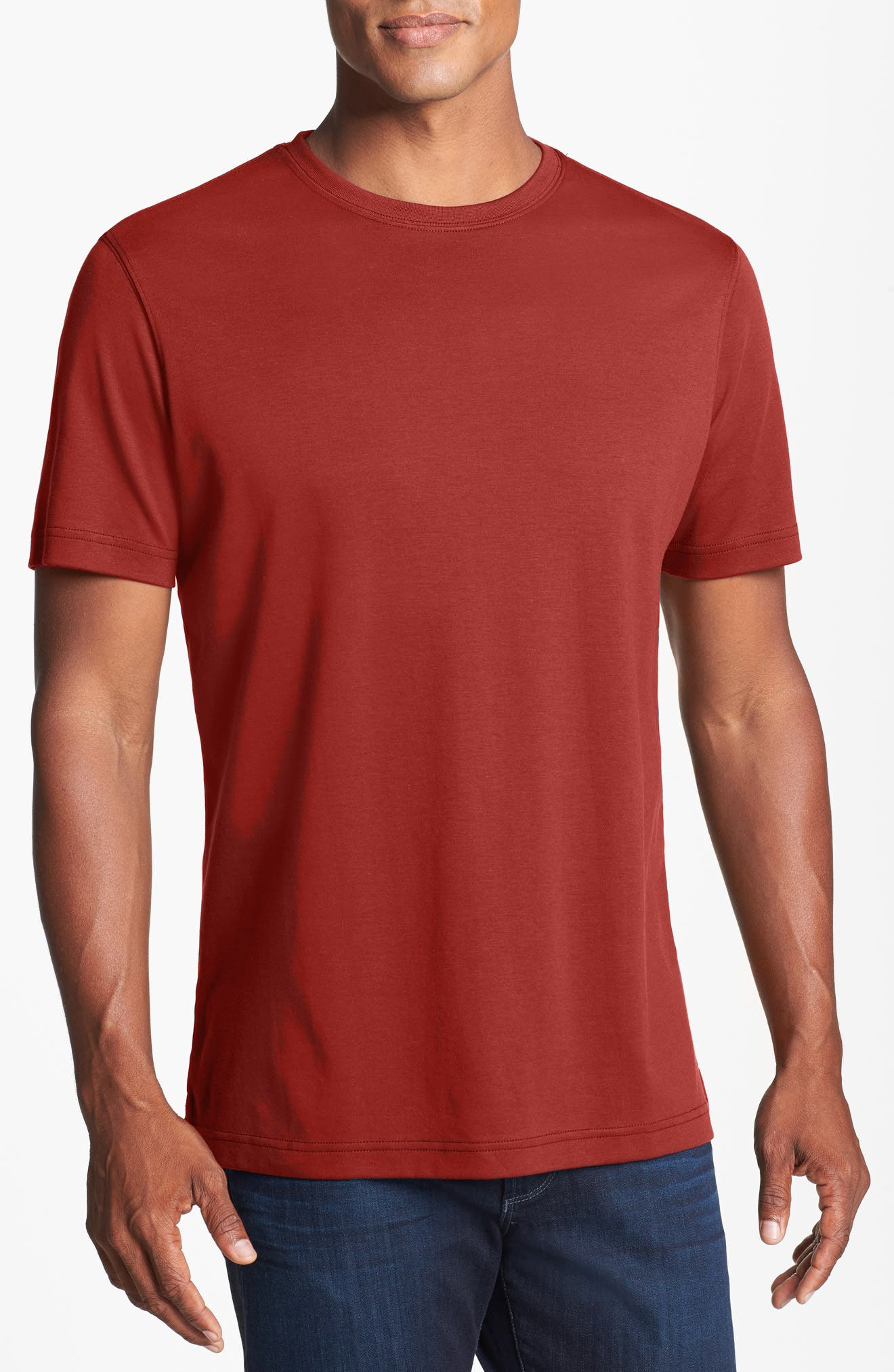 ,                             Georgia Crewneck T-Shirt,                             Main thumbnail 24, color,                             605