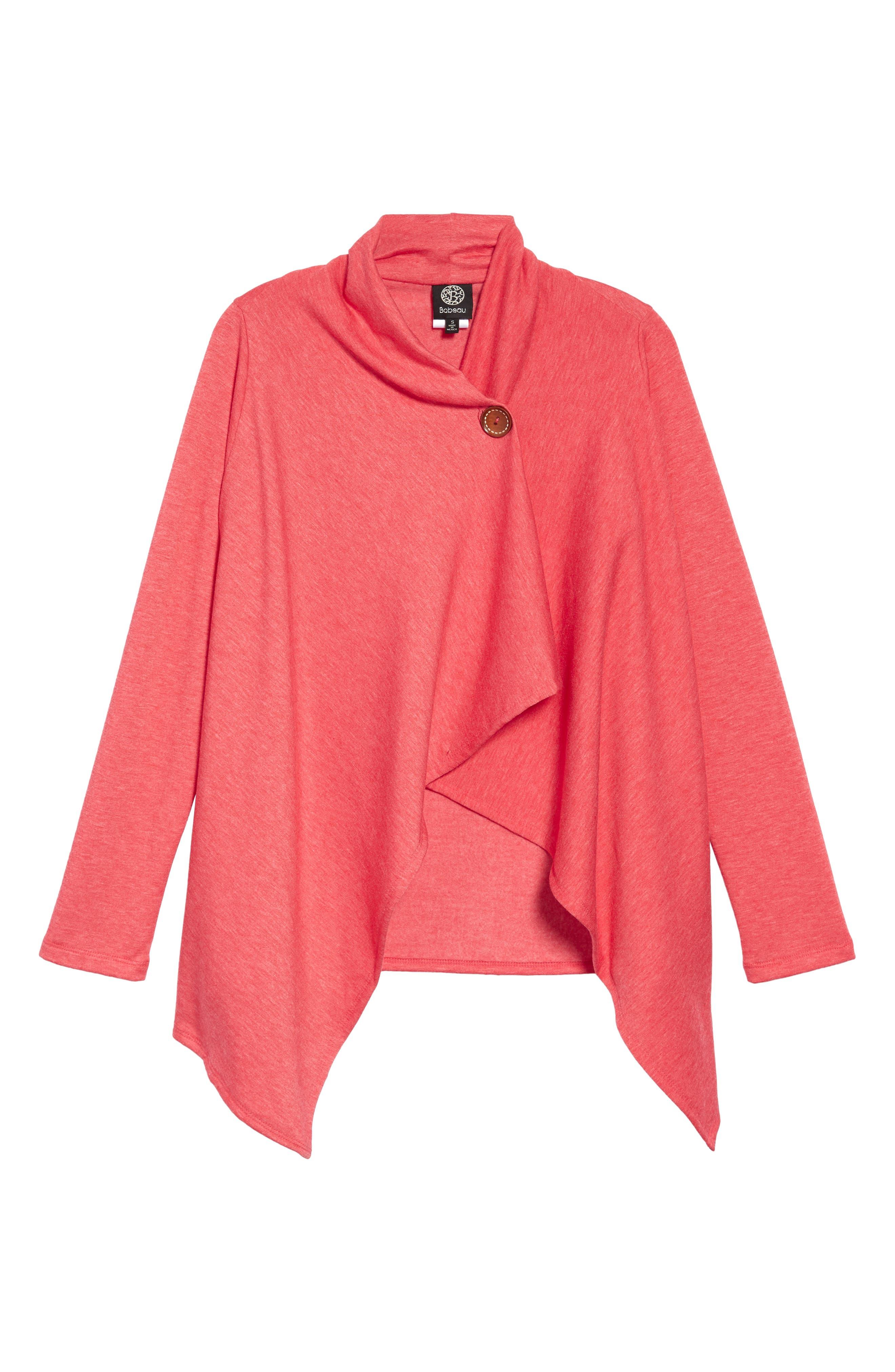 ,                             One-Button Fleece Wrap Cardigan,                             Alternate thumbnail 25, color,                             649