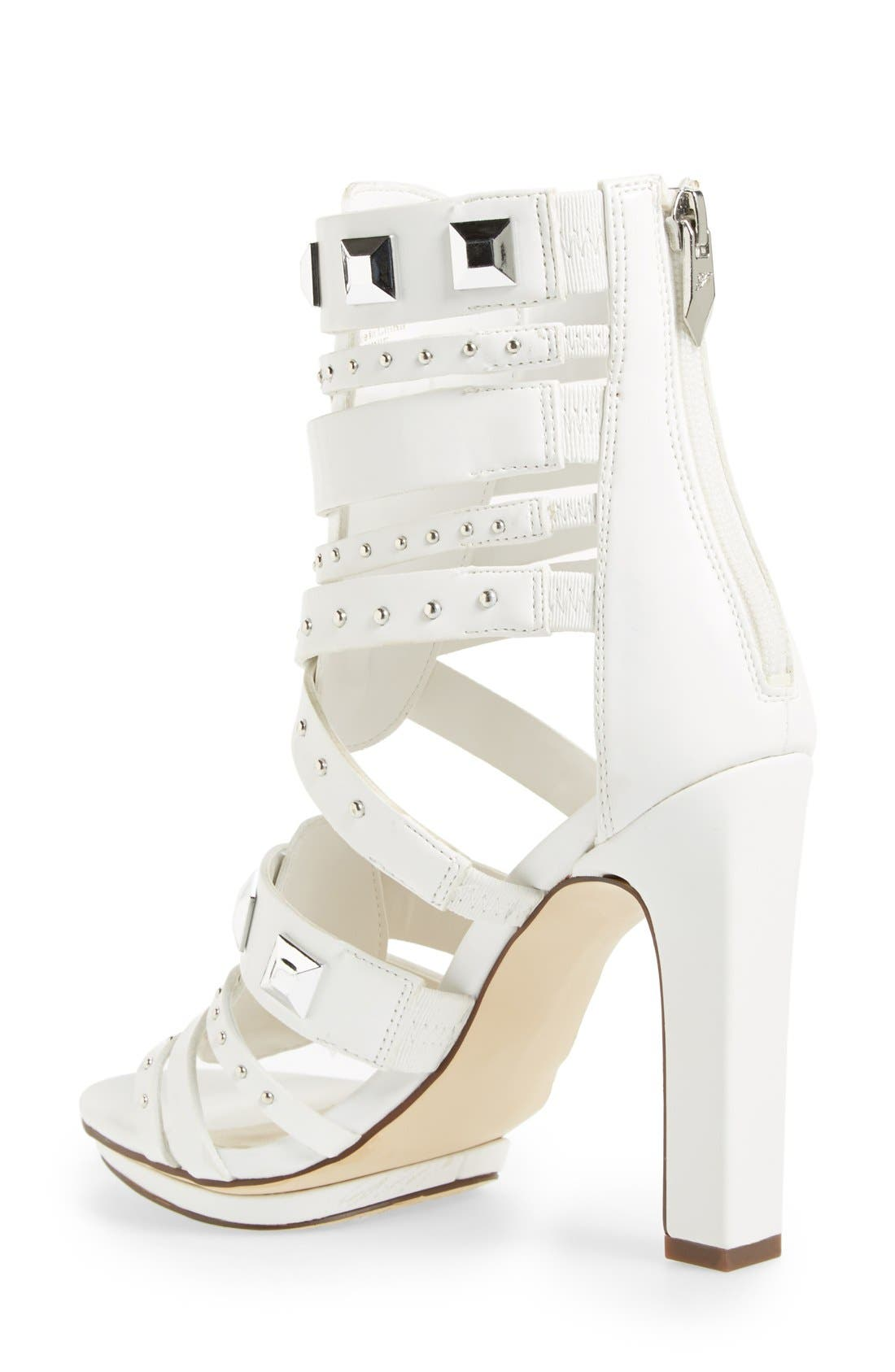 ,                             'Bonnie' Studded Strappy Sandal,                             Alternate thumbnail 8, color,                             100