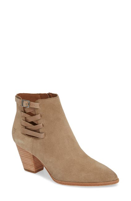 Image of Frye Reed Strappy Suede Bootie