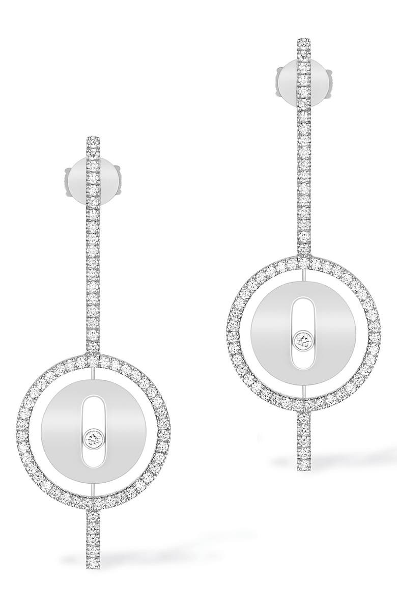 MESSIKA Lucky Move Arrow Diamond Drop Earrings, Main, color, 711