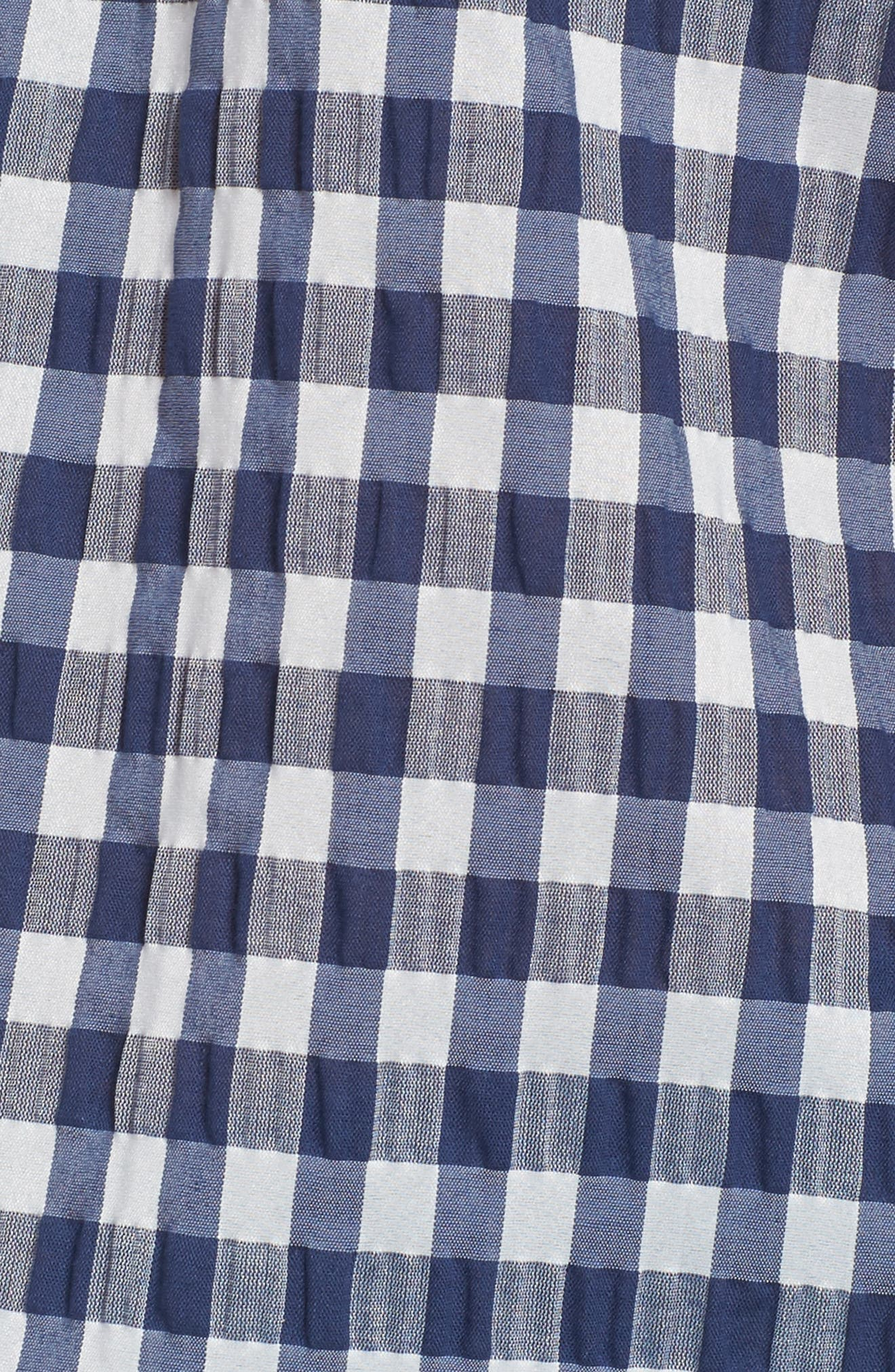 ,                             Pina Gingham Off the Shoulder Top,                             Alternate thumbnail 5, color,                             410