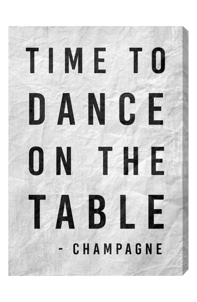 OLIVER GAL Time to Dance Canvas Wall Art, Main, color, WHITE
