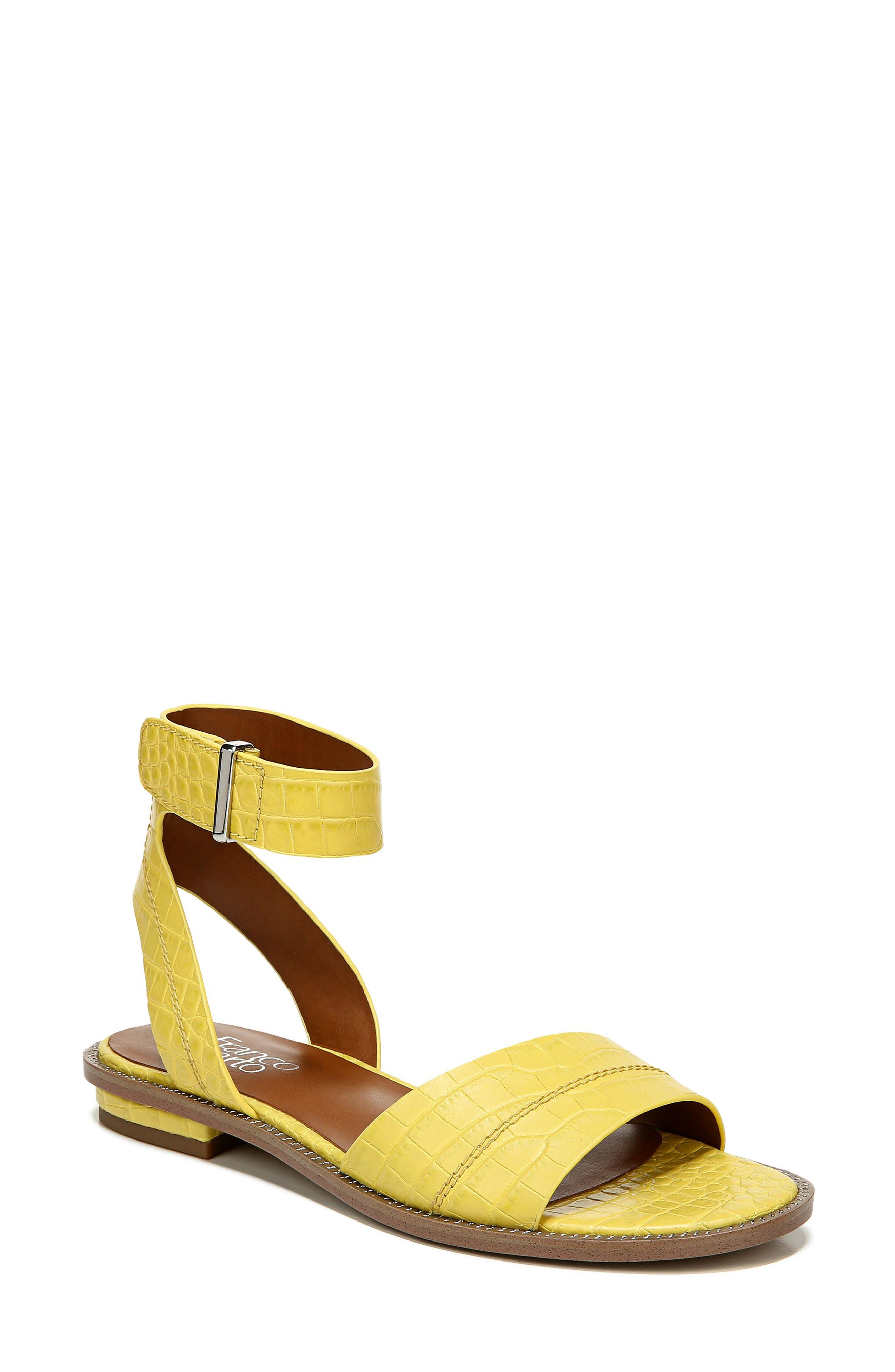 Sleek hardware highlights the easily adjustable hook-and-loop ankle strap on a versatile sandal that\\\'s as convenient as it is comfortable. Style Name: Franco Sarto Maxine Ankle Strap Sandal (Women). Style Number: 6080319. Available in stores.