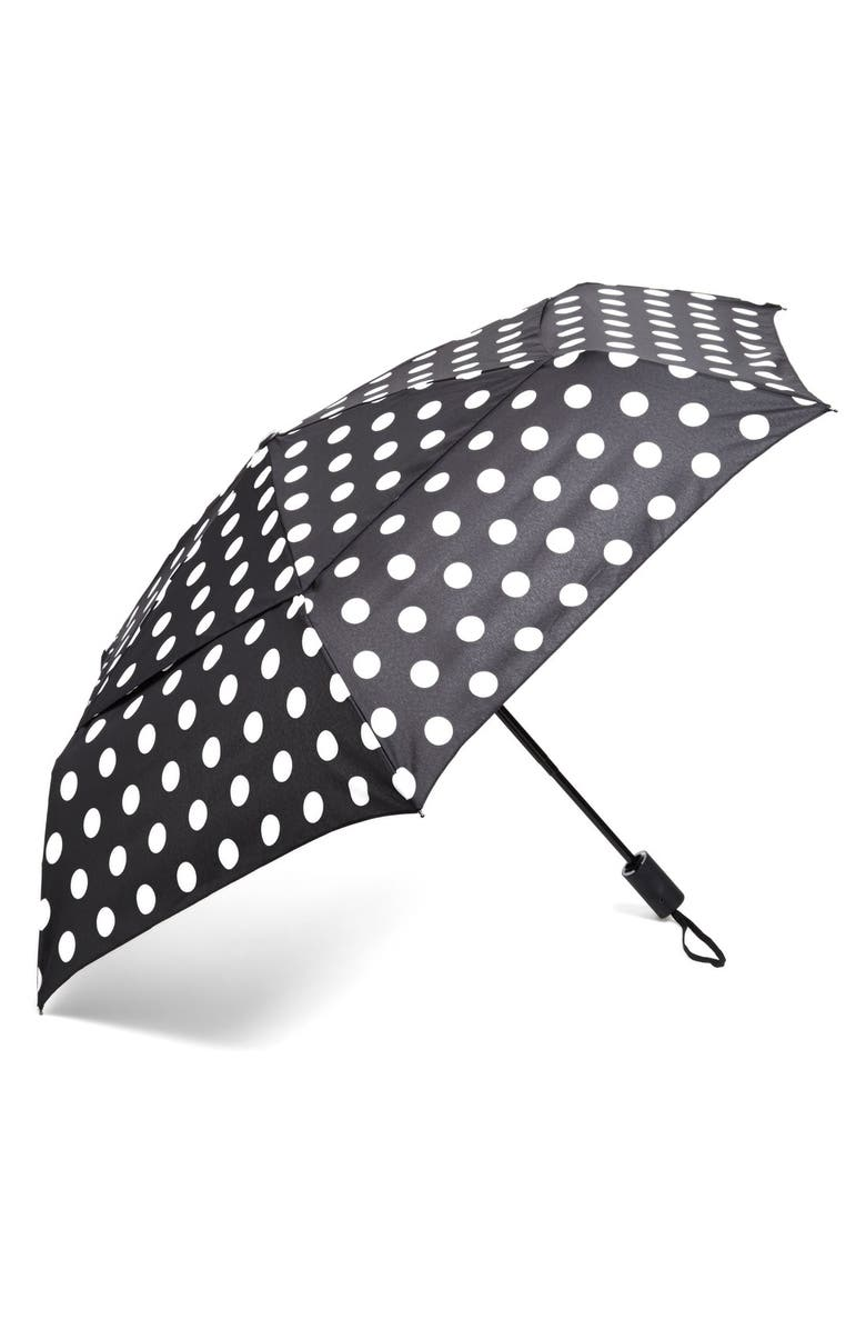 SHEDRAIN WindPro<sup>®</sup> Auto Open & Close Umbrella, Main, color, SUZIE BLACK/ WHITE