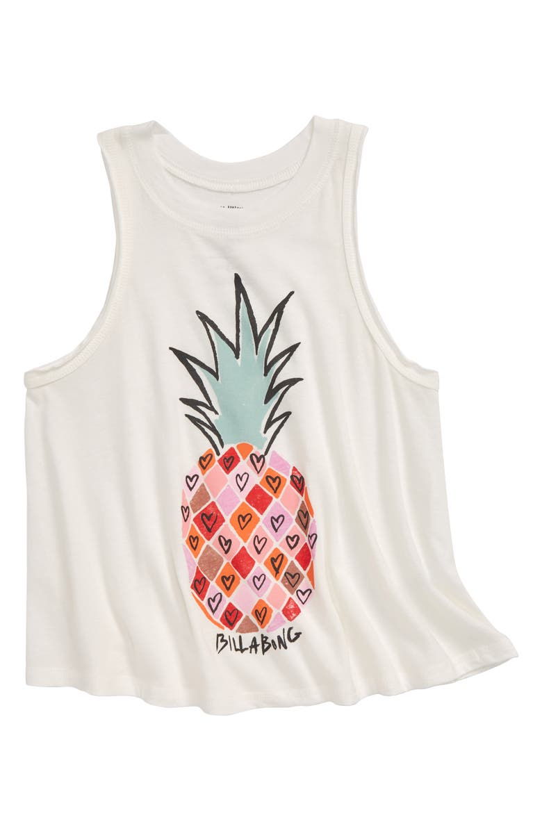 BILLABONG I Love Pineapples Muscle Swing Tank, Main, color, COOL WHIP