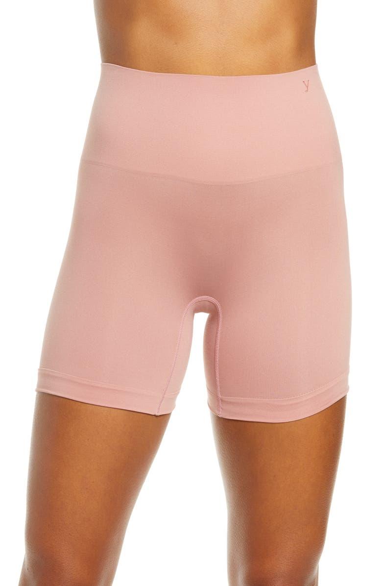 YUMMIE Ultralight Seamless Shaping Shorts, Main, color, ASH ROSE