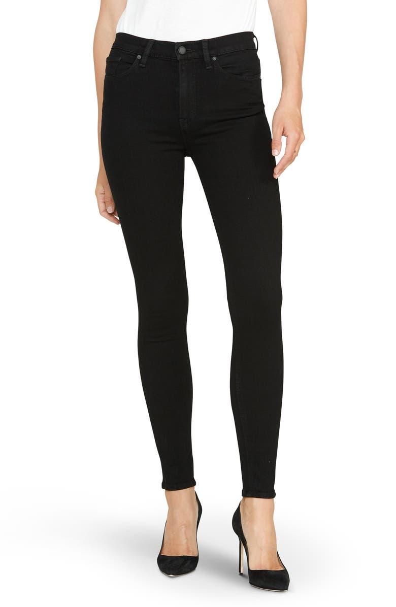HUDSON JEANS Barbara High Waist Super Skinny Jeans, Main, color, 001