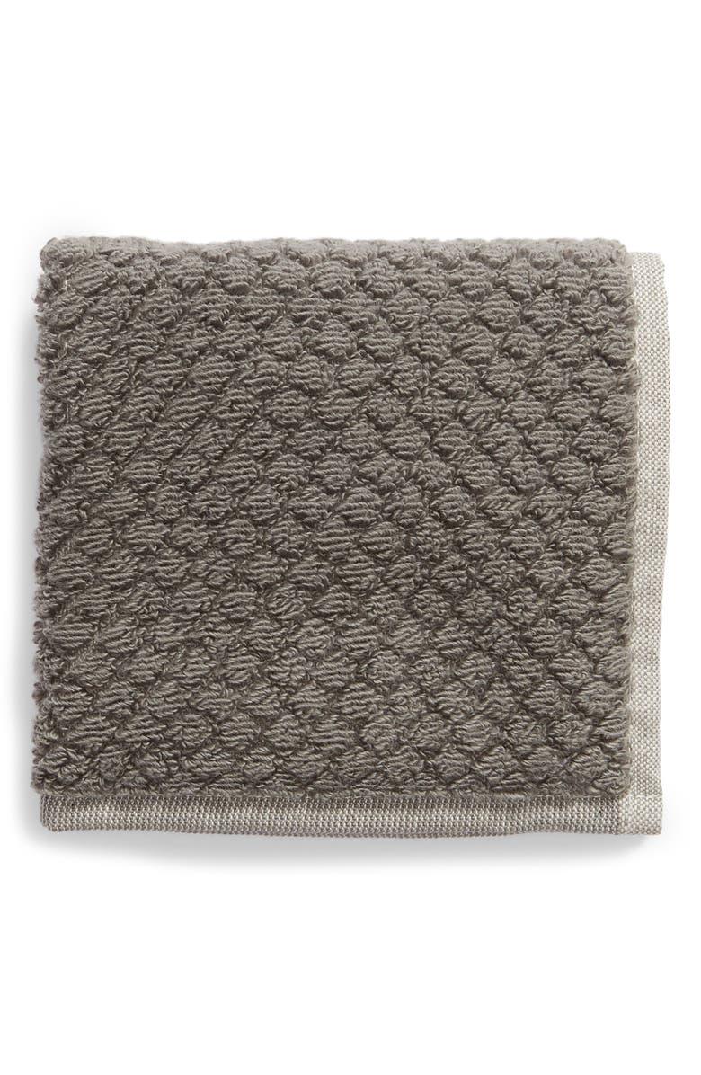 NORDSTROM Tessa Dot Washcloth, Main, color, GREY MAGNET