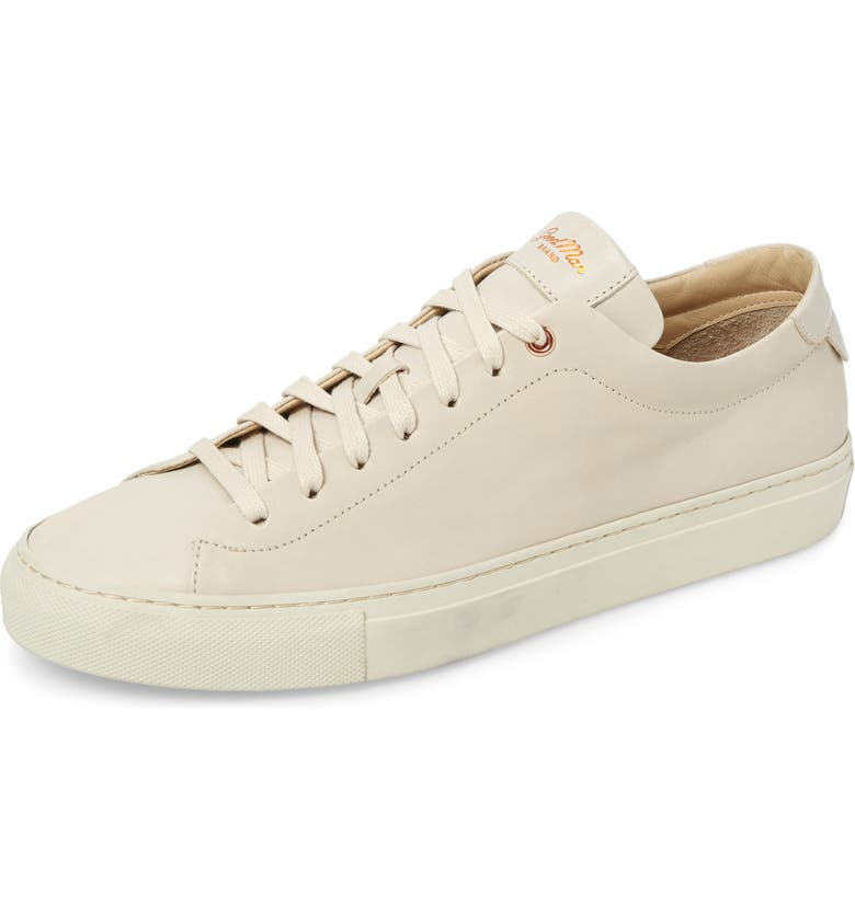 GOOD MAN BRAND Edge Sneaker, Main, color, NATURAL LEATHER