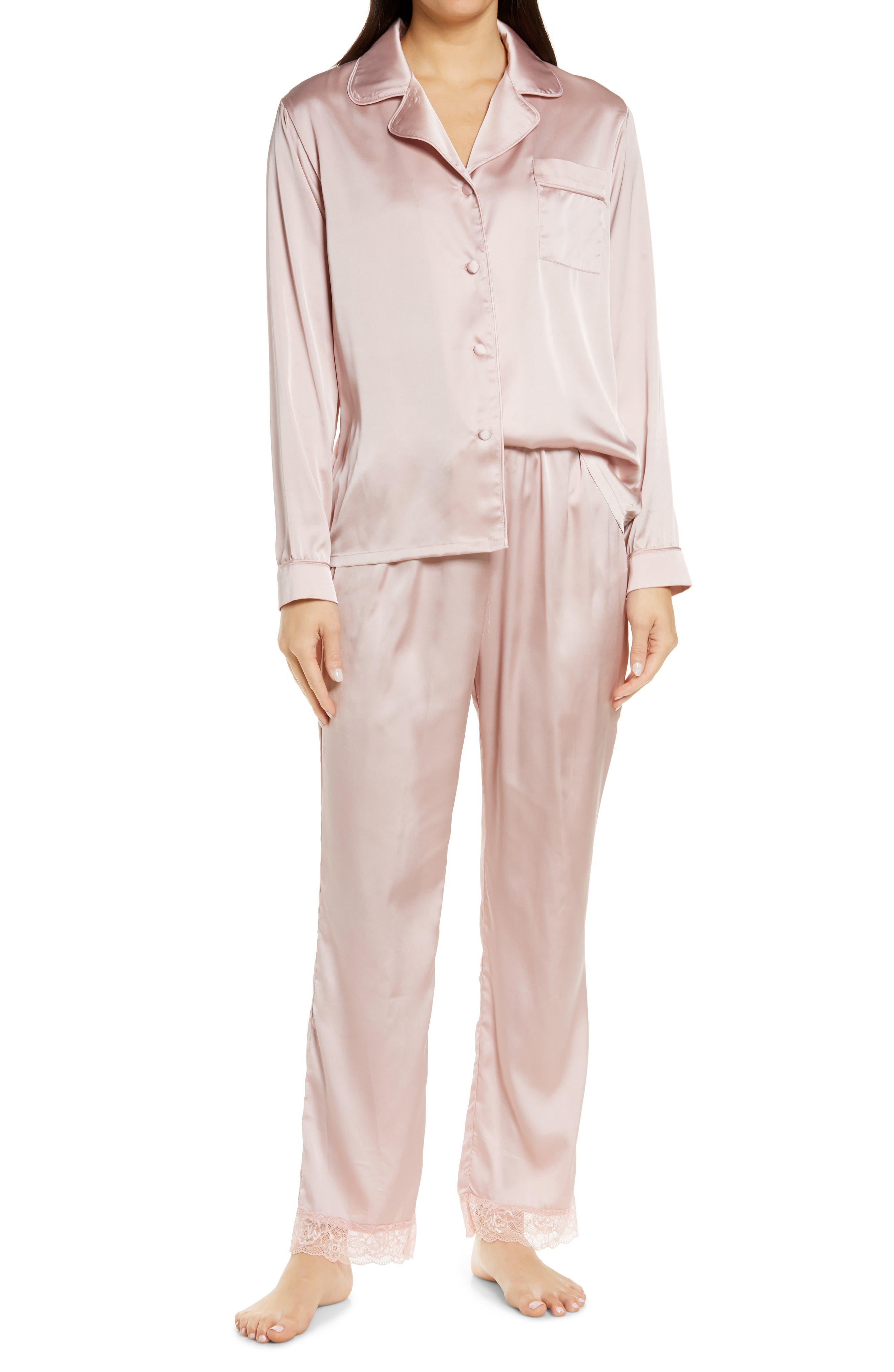 Long Sleeve Satin Pajamas