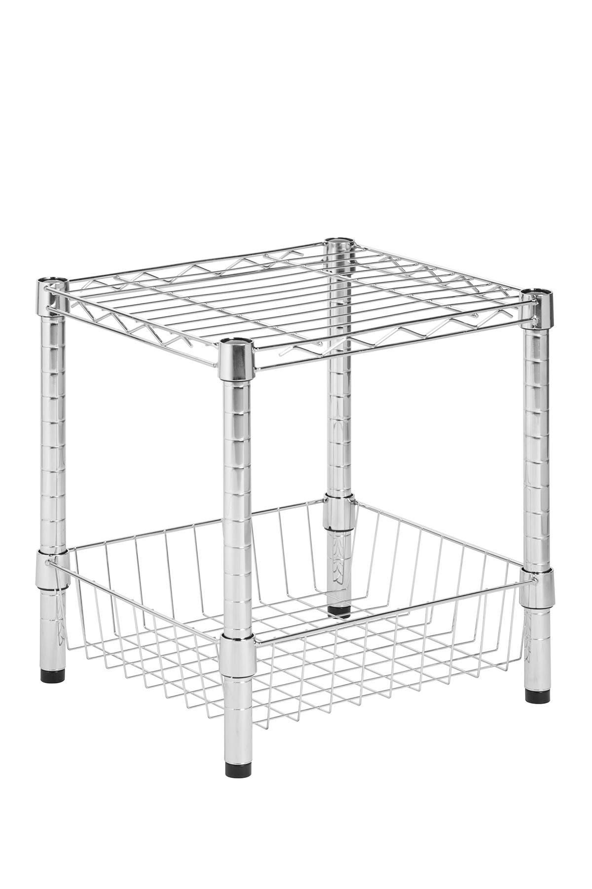 Image of Honey-Can-Do Chrome Urban Basket Table