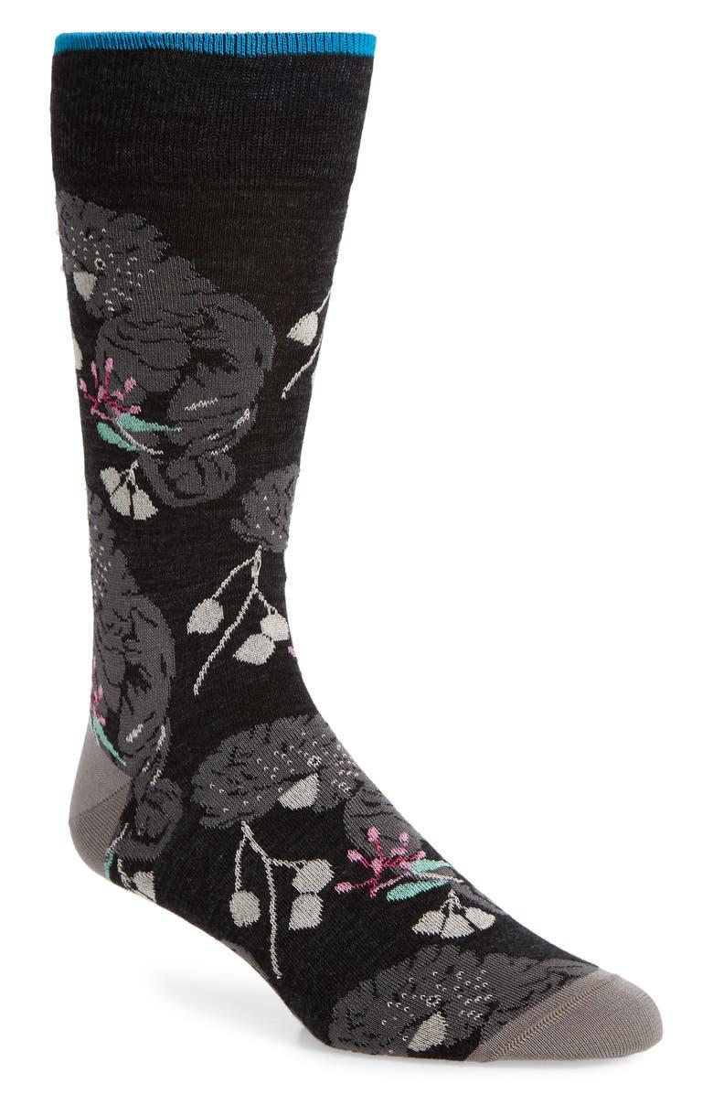 BUGATCHI Dot Socks, Main, color, 001