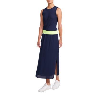 Theory Lewie Silk Maxi Dress, Size Petite - Blue