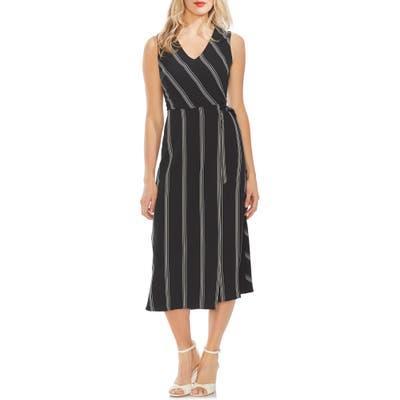 Vince Camuto Pinstripe Midi Dress, Black