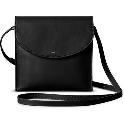 Shinola Crescent Leather Crossbody Bag - Black