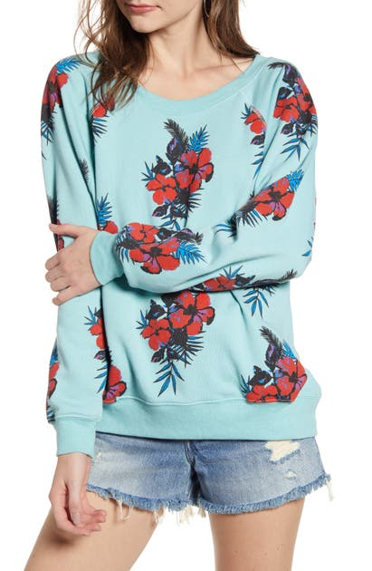 Wildfox T-shirts HIBISCUS DREAMS SOMMERS SWEATSHIRT